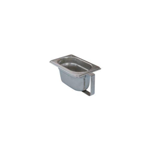 Gewürzbox 1/9 aus Edelstahl, 108x176x100 mm - GGG - Gastroworld-24