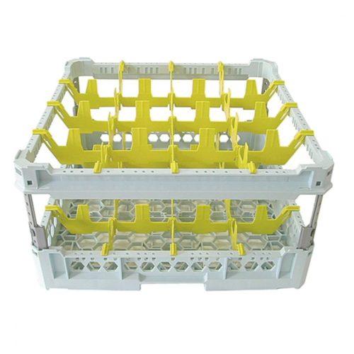 Gläserkorb, Kapazität 16 Gläser, 500x500 mm - Virtus - Gastroworld-24