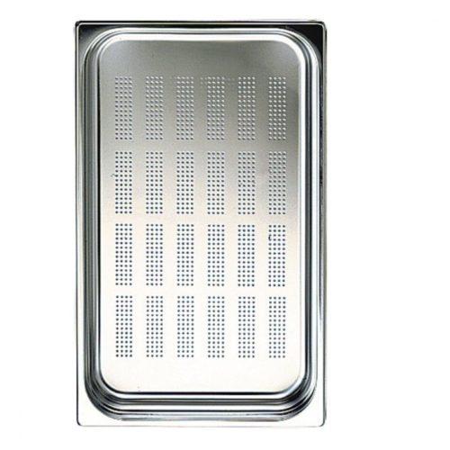GN Behälter in Edelstahl, gelocht, GN 1/1 H=65 mm - Virtus - Gastroworld-24