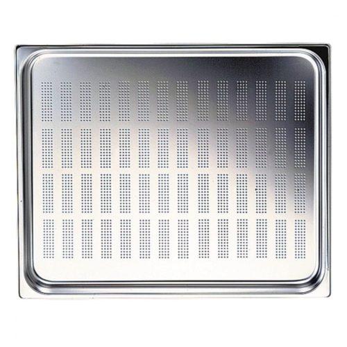 GN Behälter in Edelstahl, gelocht, GN 2/3 H=100 mm - Virtus - Gastroworld-24