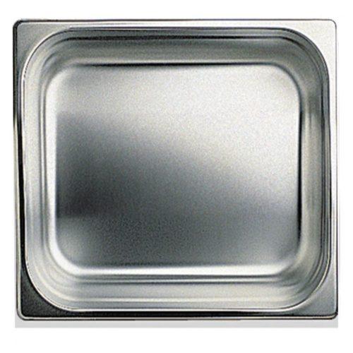 GN Behälter in Edelstahl, GN 2/3 H=100 mm - Virtus - Gastroworld-24
