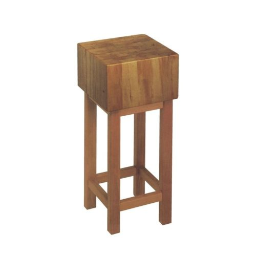 Hackklotz aus gezargtem Holz - GGG - Gastroworld-24