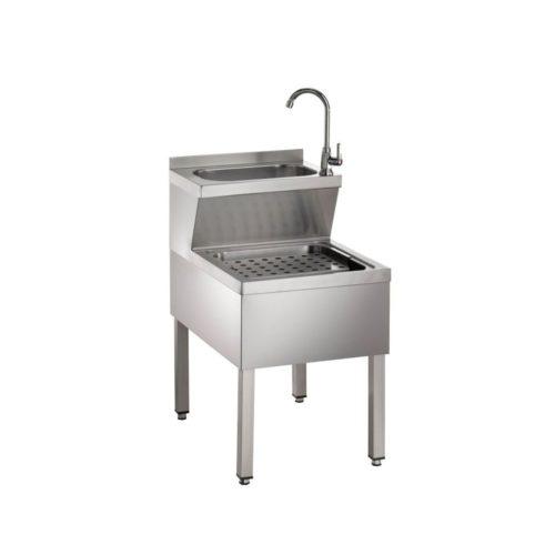 Handwasch-Ausgussbeckenkombination aus CNS 500 x 700 x 850mm - GGG - Gastroworld-24