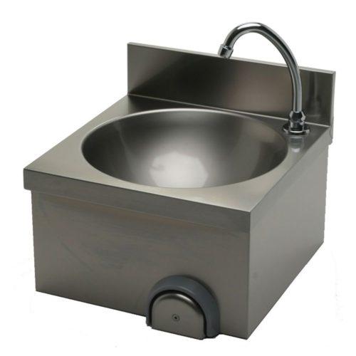 Handwaschbecken 400x400x235 mm, Edelstahl - GGG - Gastroworld-24