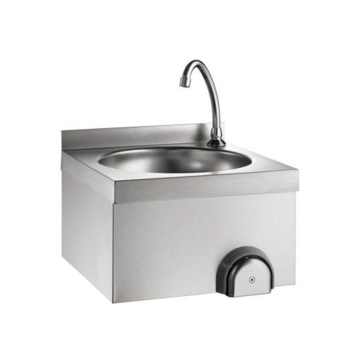 Handwaschbecken mit Kniebedienung 400 x 400 x 235mm - GGG - Gastroworld-24