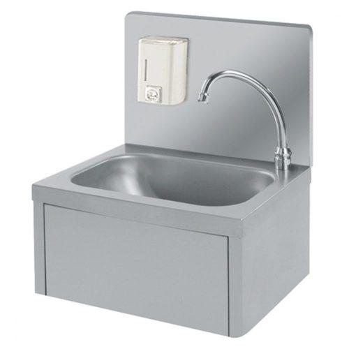 Handwaschbecken mit Kniebedienung und Seifenspender - Virtus - Gastroworld-24