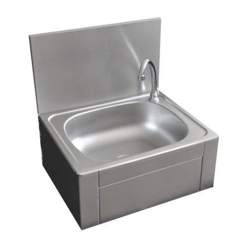Handwaschbecken mit Kniebedienung,450 x450x520mm - GGG - Gastroworld-24