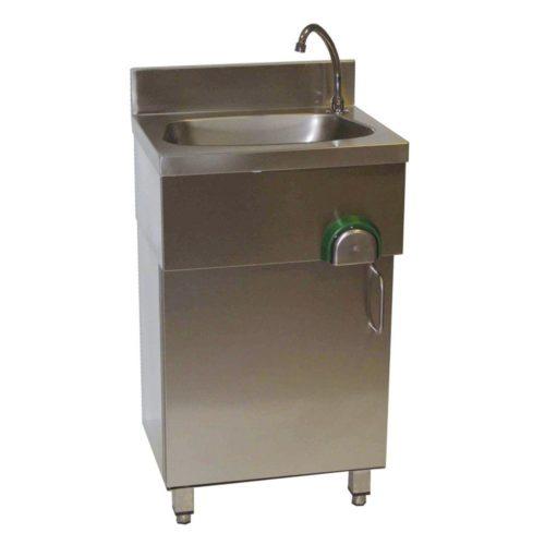Handwaschbecken mit Unterschrank, 500x400x850mm - GGG - Gastroworld-24