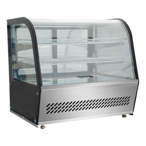 Heiße Theke 695x462x670 mm,100 L, Glas-Schiebetüren hinten, - GGG - Gastroworld-24