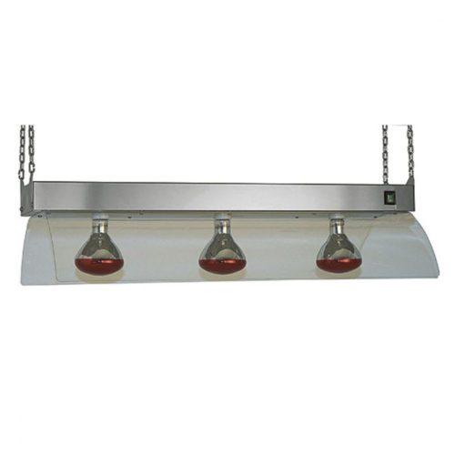 Infrarotlampen mit Edelstahlrahmenkonstrukt für Deckenmontage, 3x GN 1/1 - Virtus - Gastroworld-24