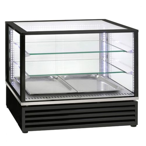 Kalte-Theke mit 2 Glasböden und Schiebetüren, +2°/+10°C - Virtus - Gastroworld-24