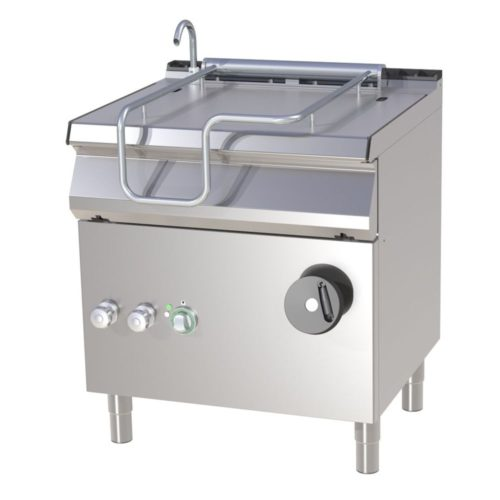 Kippbratpfanne, Elektro, 800x730x900mm, Pfanne aus Eisen, - GGG - Gastroworld-24
