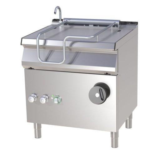 Kippbratpfanne, Gas, 800x730x900 mm, Pfanne aus Eisen, - GGG - Gastroworld-24