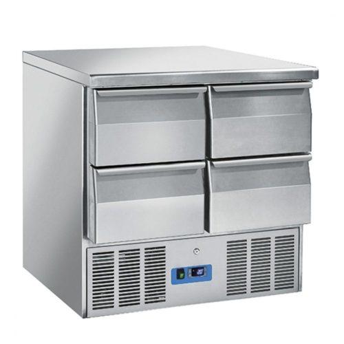 Kühl-Vorbereitungstisch mit 4 Schubladen, +0°/+8°C - Virtus - Gastroworld-24