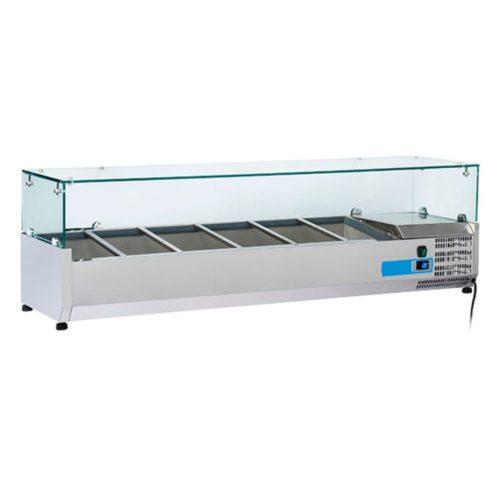 Kühlaufsatzvitrine 6x GN 1/4 H=150 mm, +2°/+8°C - Virtus - Gastroworld-24
