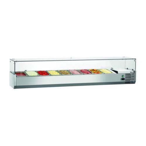 Kühlaufsatzvitrine GL 9 x 1/3 GN - Bartscher - Gastroworld-24
