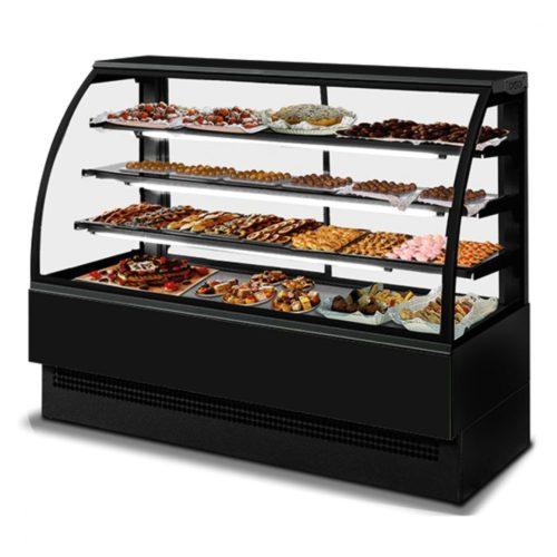 Kühltheke mit 3 Böden, Umluft, 0°/+2°C, B=1800 mm - Virtus - Gastroworld-24