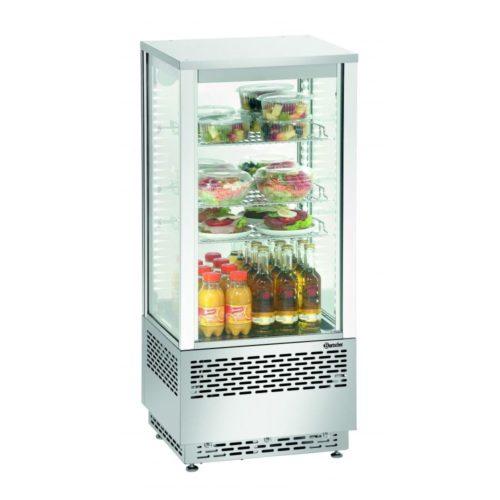 Mini-Kühlvitrine 78L, Edelstahl - Bartscher - Gastroworld-24