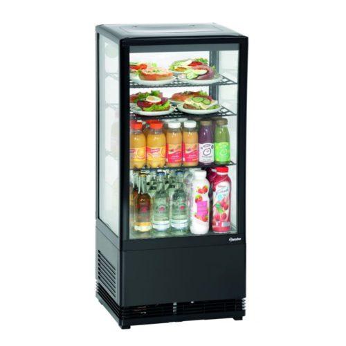 Mini-Kühlvitrine 78L, schwarz - Bartscher - Gastroworld-24
