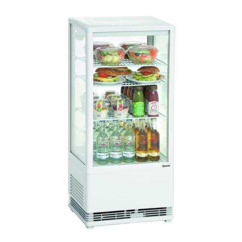 Mini-Kühlvitrine 78L, weiß - Bartscher - Gastroworld-24
