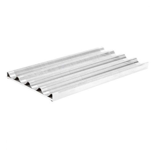 perforiertes Aluminiumblech mit 4 Rinnen und Halterung, GN 1/1 - Virtus - Gastroworld-24
