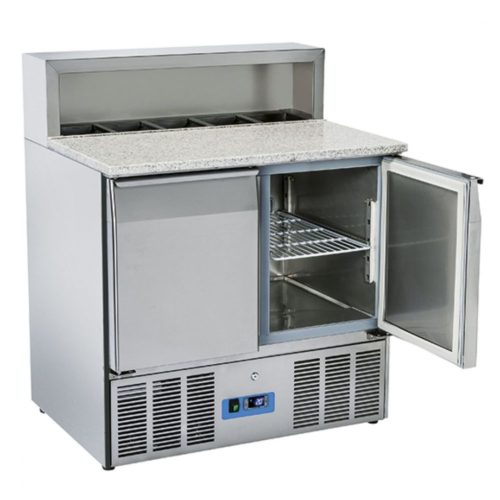 Pizzadette mit 2 Türen GN 1/1, 5x GN 1/6 H=150 mm, 0°/+8°C - Virtus - Gastroworld-24