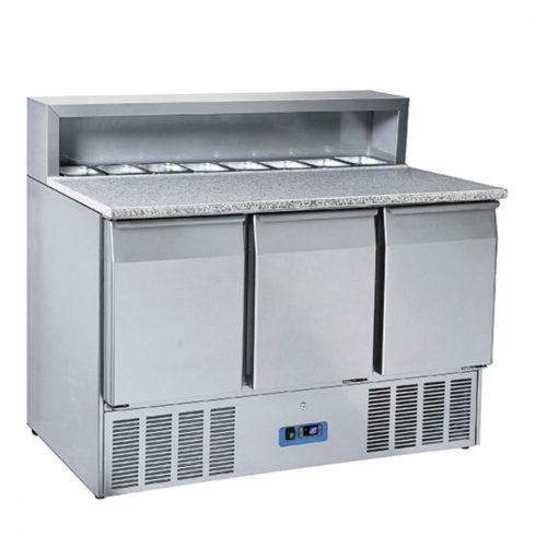Pizzadette mit 3 Türen GN 1/1, 8x GN 1/6 H=150 mm, 0°/+8°C - Virtus - Gastroworld-24