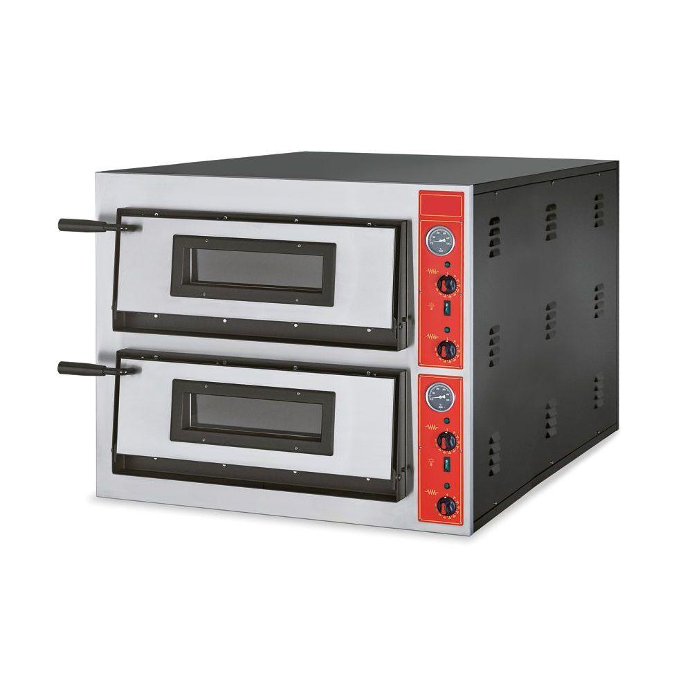 Pizzaofen, Edelstahl, 900 x 1020 x 750 mm, 12 Pizzen Ø 300mm - GGG - Gastroworld-24