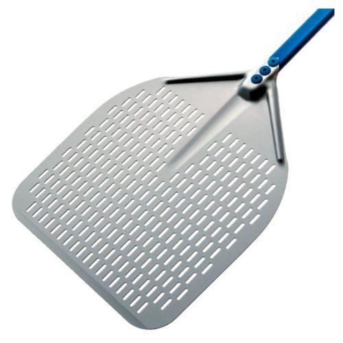 Pizzaschaufel, rechteckig, durchlöchert, 330x330 mm, L=1840 mm - Virtus - Gastroworld-24