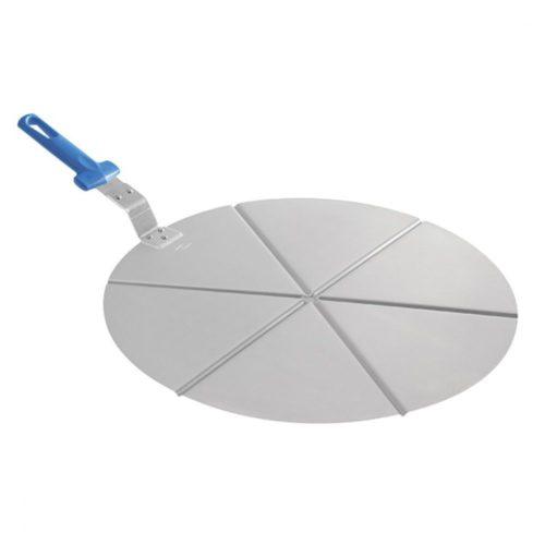 Pizzatablett mit Griff und Schneideschienen für 6 Stücke, ø 450 mm - Virtus - Gastroworld-24