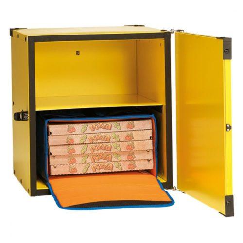 Pizzatransportbox, isoliert, Kapazität 2 Taschen oder 8 Kartons - Virtus - Gastroworld-24