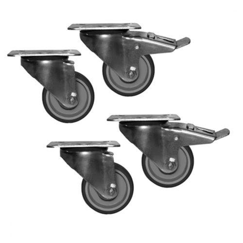 Räderkit mit Bremse für Kühl-/Tiefkühlschränke und -tische - Virtus - Gastroworld-24