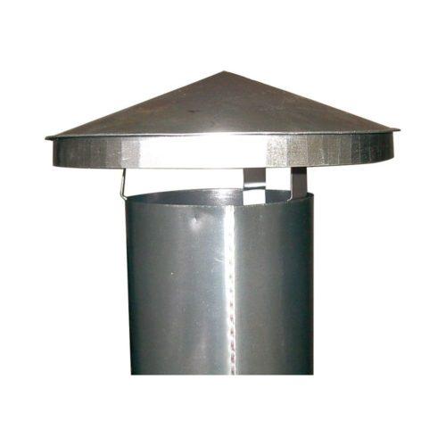 Regenhaube, 450x450x250mm, für 250er Rohre - GGG - Gastroworld-24