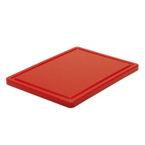 Schneidebrett für Fleisch mit Saftrille, 400x300 mm - Virtus - Gastroworld-24
