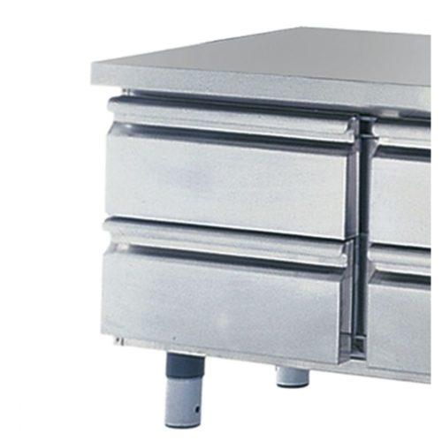 Schubladenkit 2x 1/2 für Kühlunterbauten, H=100 mm - Virtus - Gastroworld-24