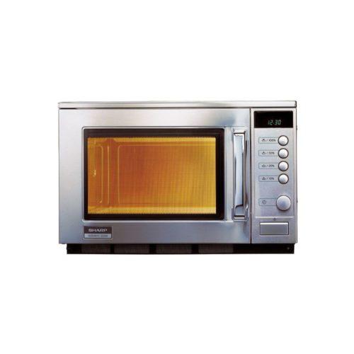 Sharp Mikrowelle Edelstahl - GGG - Gastroworld-24