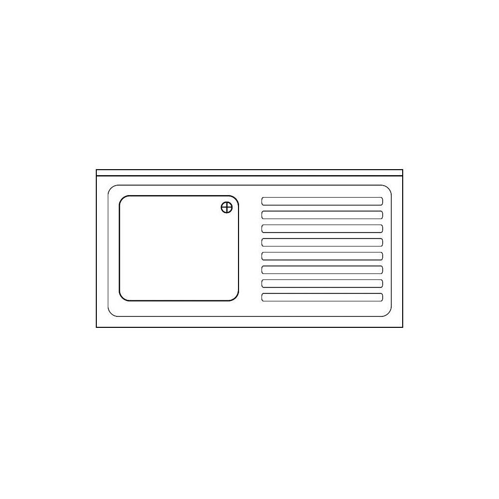 Spülabdeckung 1200 x 600x40mm - GGG - Gastroworld-24