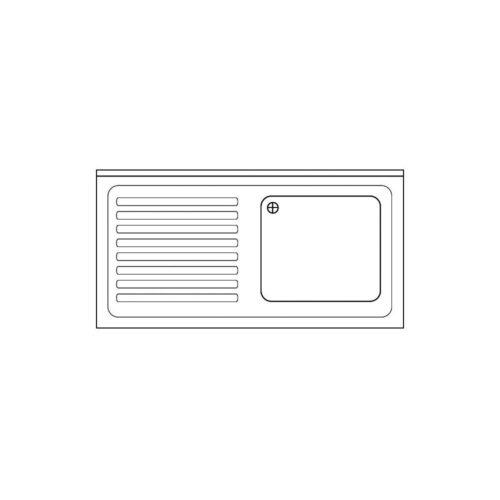 Spülabdeckung 1200 x 700x40mm - GGG - Gastroworld-24