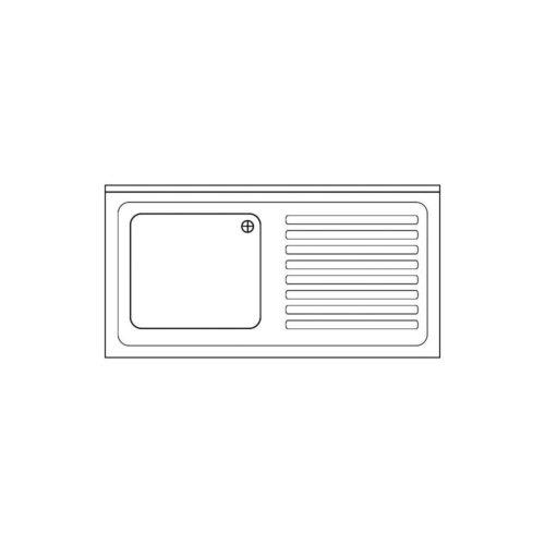 Spülabdeckung 1200x600x40mm - GGG - Gastroworld-24
