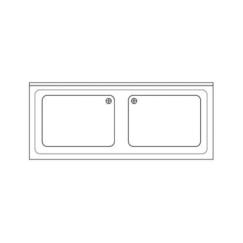 Spülabdeckung 1200x700x40mm - GGG - Gastroworld-24