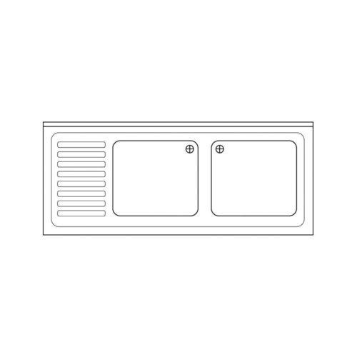 Spülabdeckung 1500 x 600x40mm - GGG - Gastroworld-24