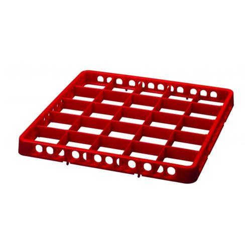 Spülkorbteiler, 25 Fächer, rot - Bartscher - Gastroworld-24