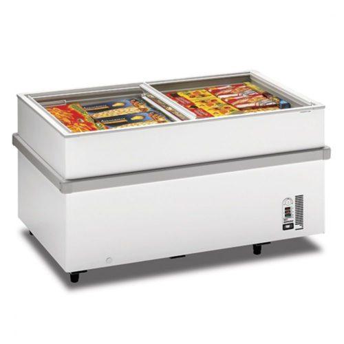Supermarkt-Tiefkühltruhe mit Glas-Schiebedeckeln, -18°/-25°C, 459 Liter - Virtus - Gastroworld-24