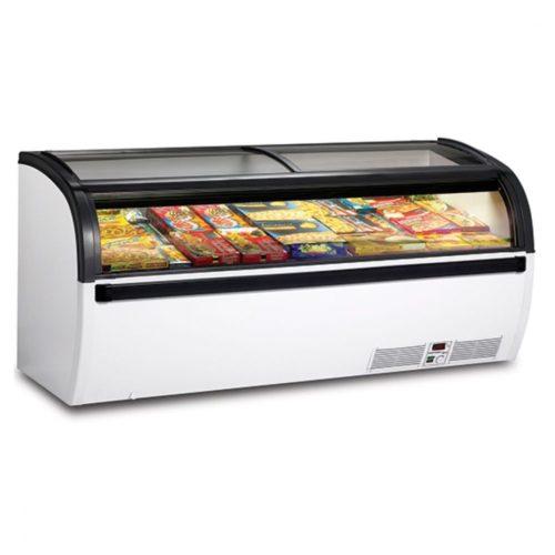 Supermarkt-Tiefkühltruhe mit Glas-Schiebedeckeln, -18°/-25°C, 712 Liter - Virtus - Gastroworld-24