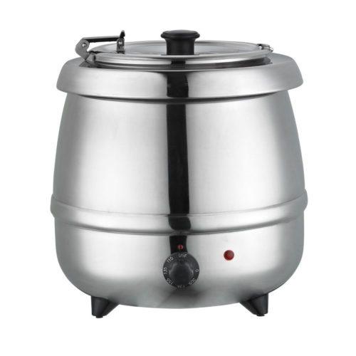 Suppenkessel Edelstahl, Ø370x380x380 mm, 9,65 L, 400 W, - GGG - Gastroworld-24