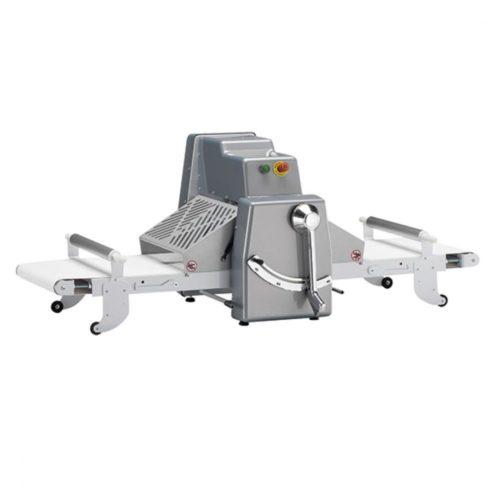 Teigausrollmaschine mit 1 Geschwindigkeit, Tischmodell, Bandmaß 500x750 mm - Virtus - Gastroworld-24