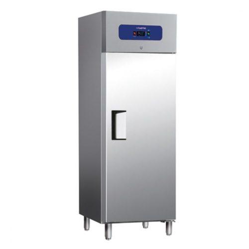 Tiefkühlschrank 400 Liter aus Edelstahl, 460x485 mm, -10°/-18°C - Virtus - Gastroworld-24