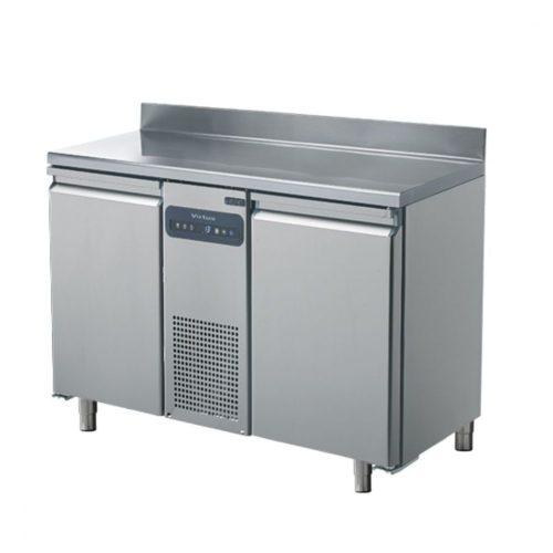 Tiefkühltisch mit 2 Türen GN 1/1 und Aufkantung, -10°/-22°C - Virtus - Gastroworld-24