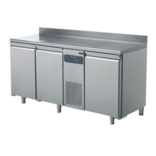 Tiefkühltisch mit 3 Türen GN 1/1 und Aufkantung, -10°/-22°C - Virtus - Gastroworld-24