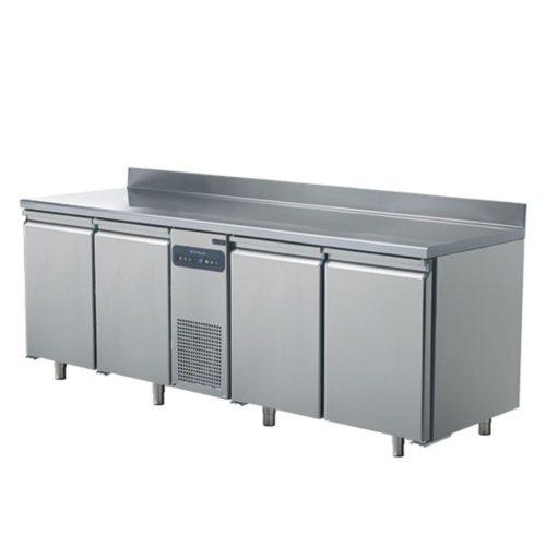 Tiefkühltisch mit 4 Türen GN 1/1 und Aufkantung, -10°/-22°C - Virtus - Gastroworld-24